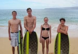 Evans Kids Maui August 2013